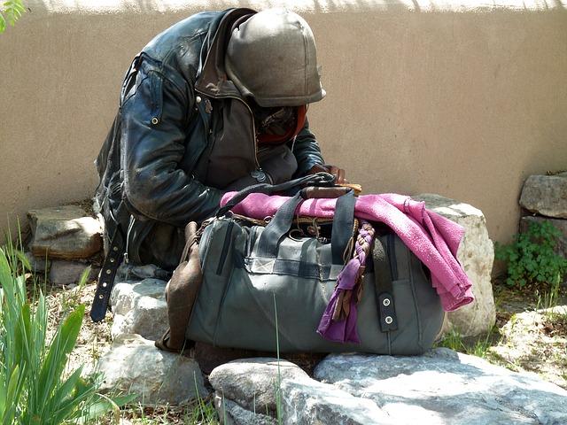 chudák bez domova