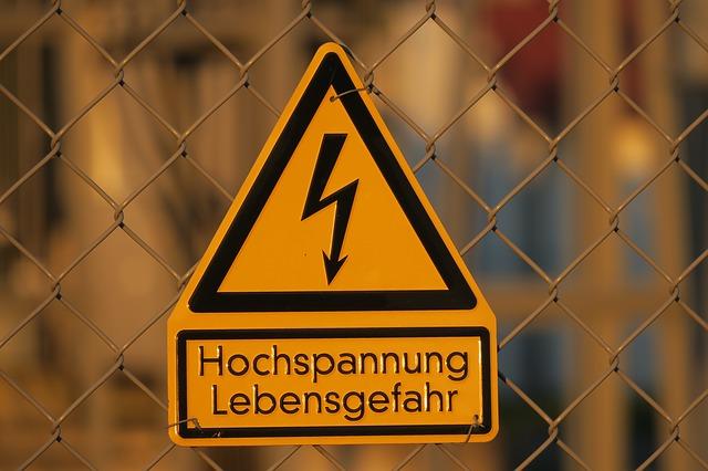 varování před elektřinou