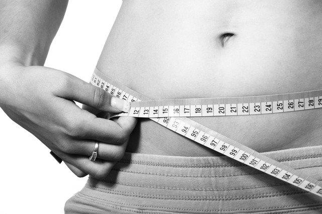 břicho, měření obvodu pasu